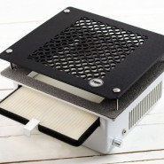 Teri 600 встраиваемая маникюрная вытяжка с HEPA фильтром (сетка черный пластик)