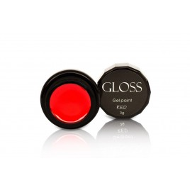 Гель-краска Gloss - Red, 3 мл
