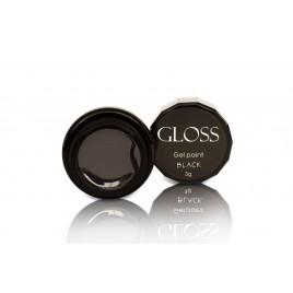 Гель-краска Gloss - Black, 3 мл
