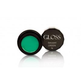 Гель-краска Gloss - Green, 3 мл