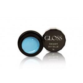 Гель-краска Gloss - SKY Blue, 3 мл